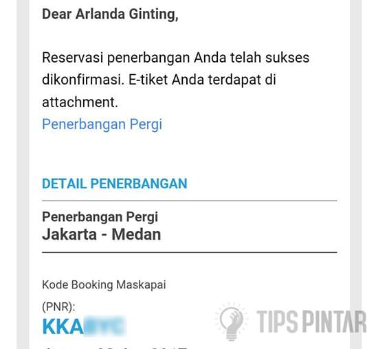 Kode Booking