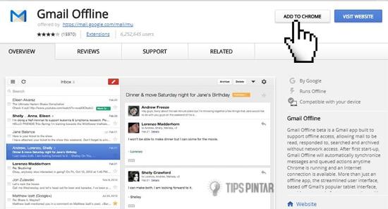 cara mengaktifkan mode offline di gmail