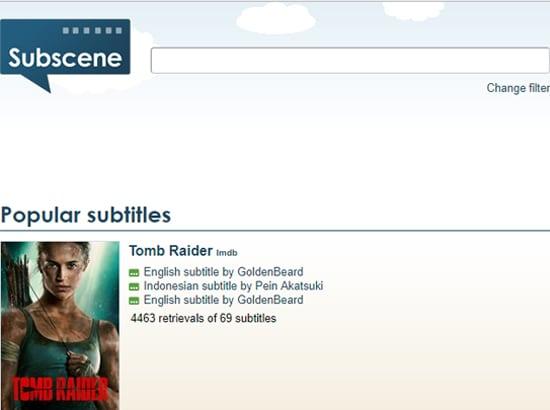 tempat download subtitle