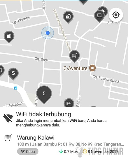 Tentukan Posisi WiFi