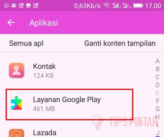 Cari Aplikasi Layanan Google Play