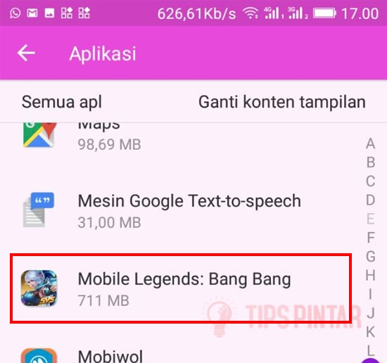 Cari Aplikasi Mobile Legends