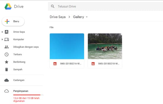 Cari File di Google Drive