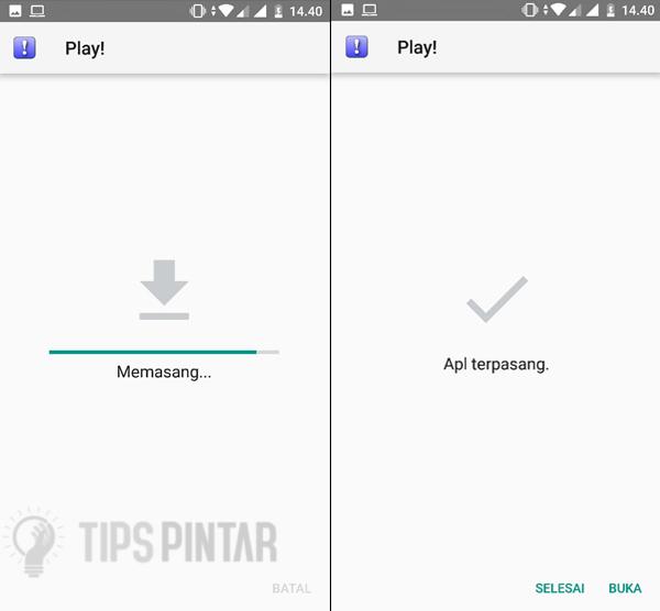 Install Aplikasi Play
