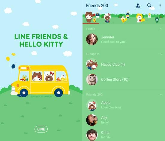 LINE FRIENDS n HELLO KITTY