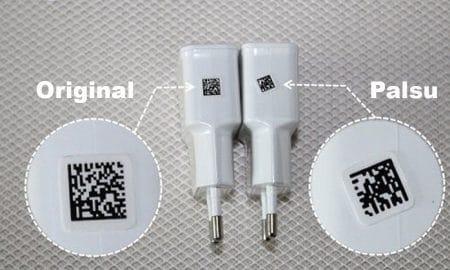 Membedakan charger Samsung original dan Palsu