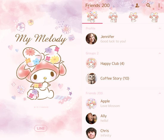 My Melody Pastel Colors