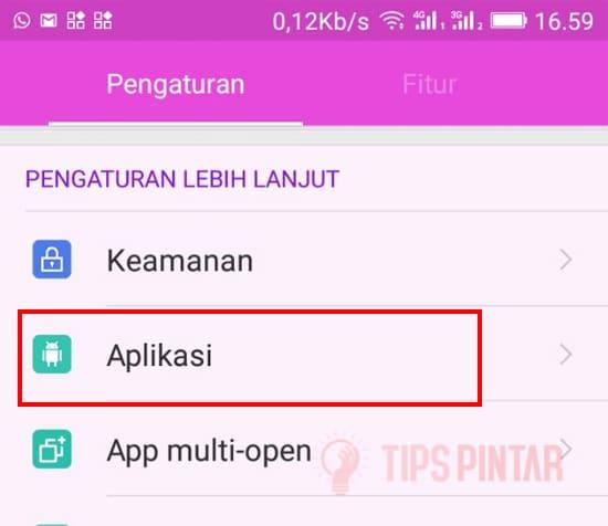 Pilih Menu Aplikasi