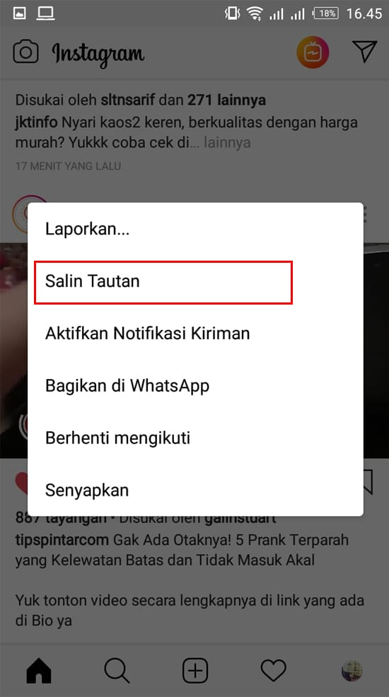 Salin Tautan Video