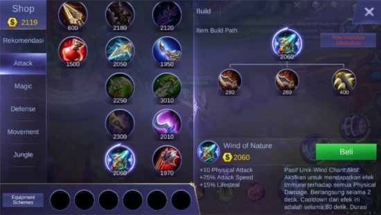 Wind of Nature - Item Mobile Legends