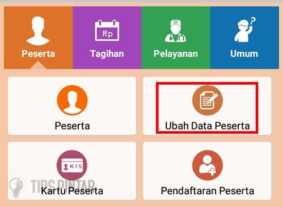 Klik Ubah Data Peserta