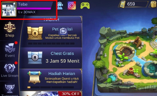 Buka Profil Akun Mobile Legends
