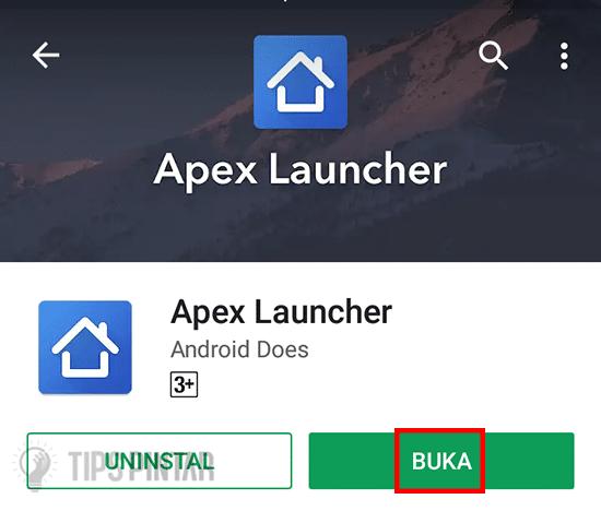 Buka Aplikasi Apex Launcher