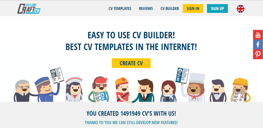 Craft-CV Template CV Gratis