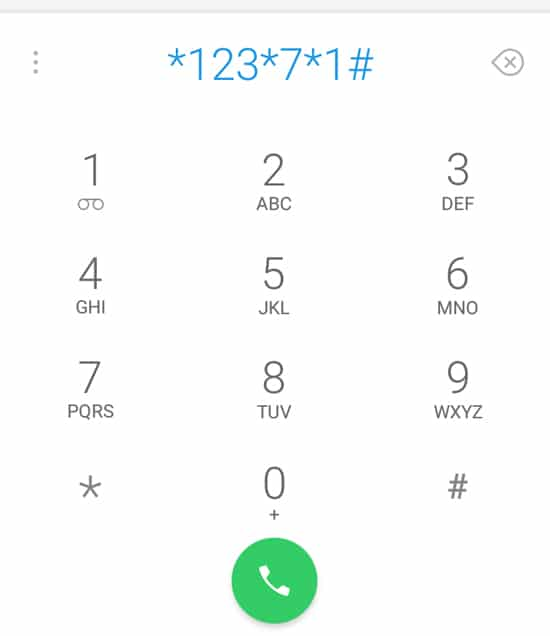 Dial Nomor *123*7*1#