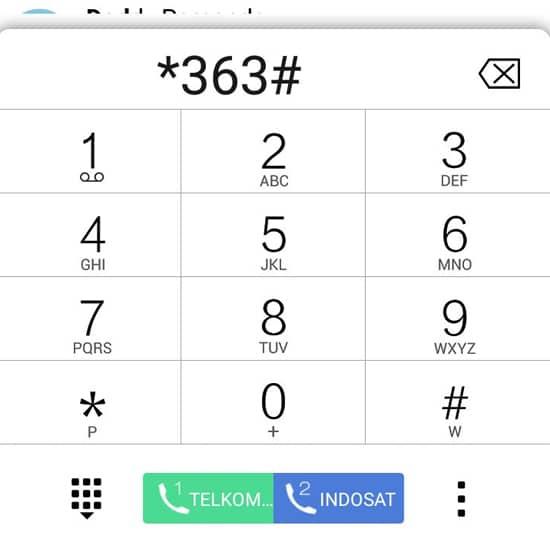 Dial ke Nomor *363#