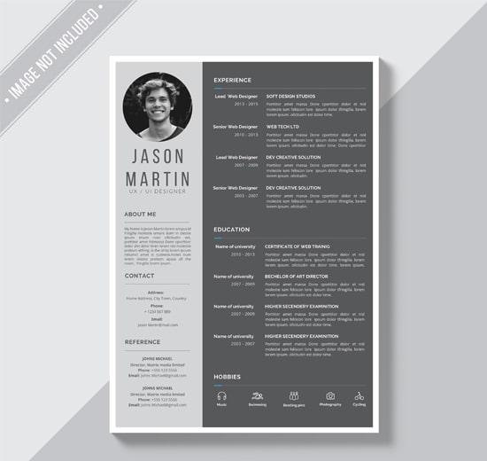 Grey CV Template