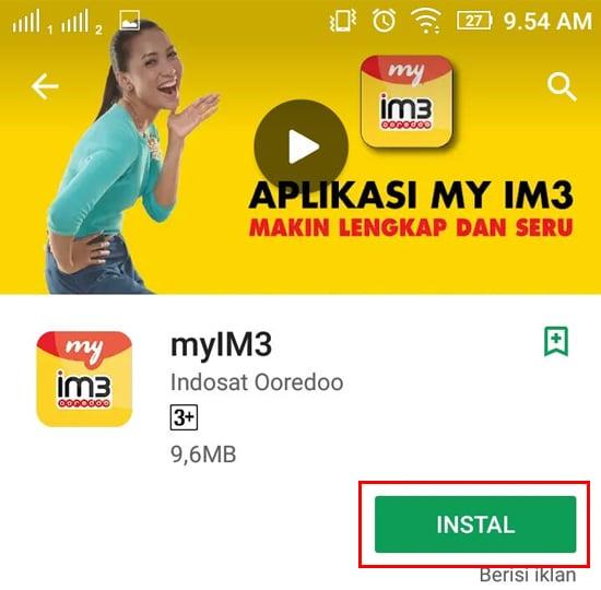 Install Aplikasi myIM3