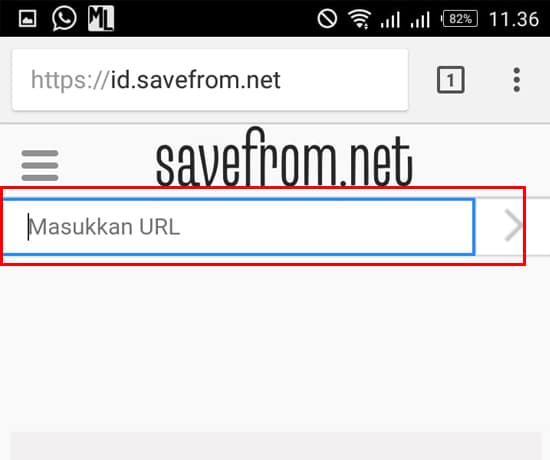 Masukkan Link Video