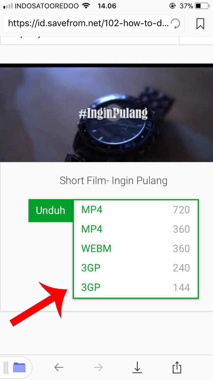 Pilih Kualitas Video