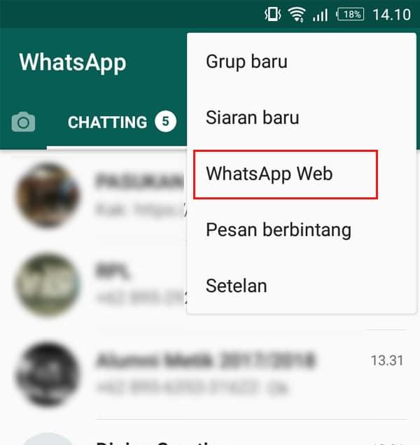 Pilih WhatsApp Web