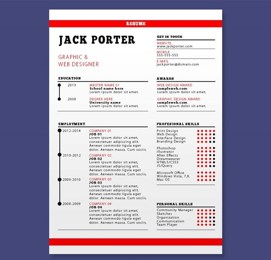 Resume Template Download
