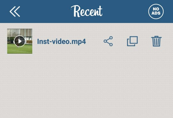Video Berhasil di Download