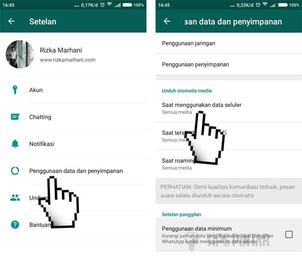 Cara Menghemat Kuota Internet Saat Menggunakan WhatsApp 9