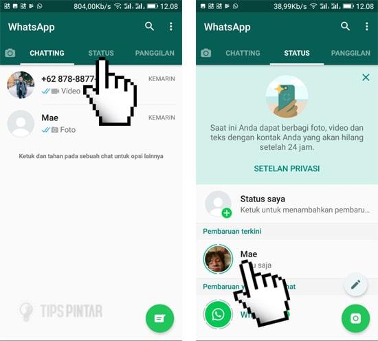 cara download video status whatsapp