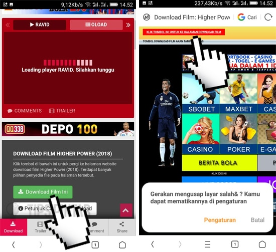Cara Download Film di Android