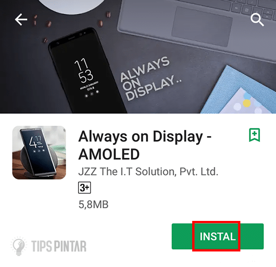 Install Aplikasi Always on Display