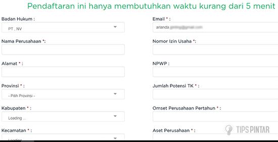 Isi Data Perusahaan