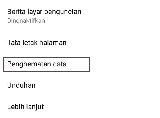 Klik Penghemat Data