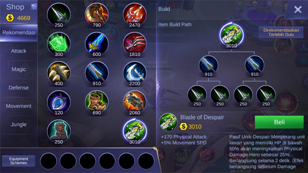 Blade of Despair - Item Mobile Legends