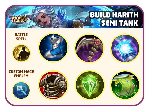 Build Harith Mobile Legends