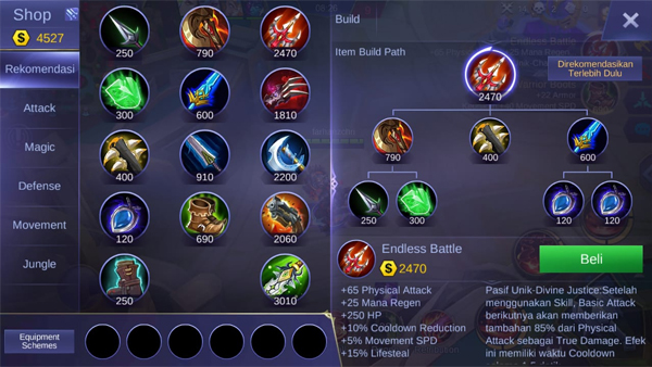 Endless Battle - Item Mobile Legends
