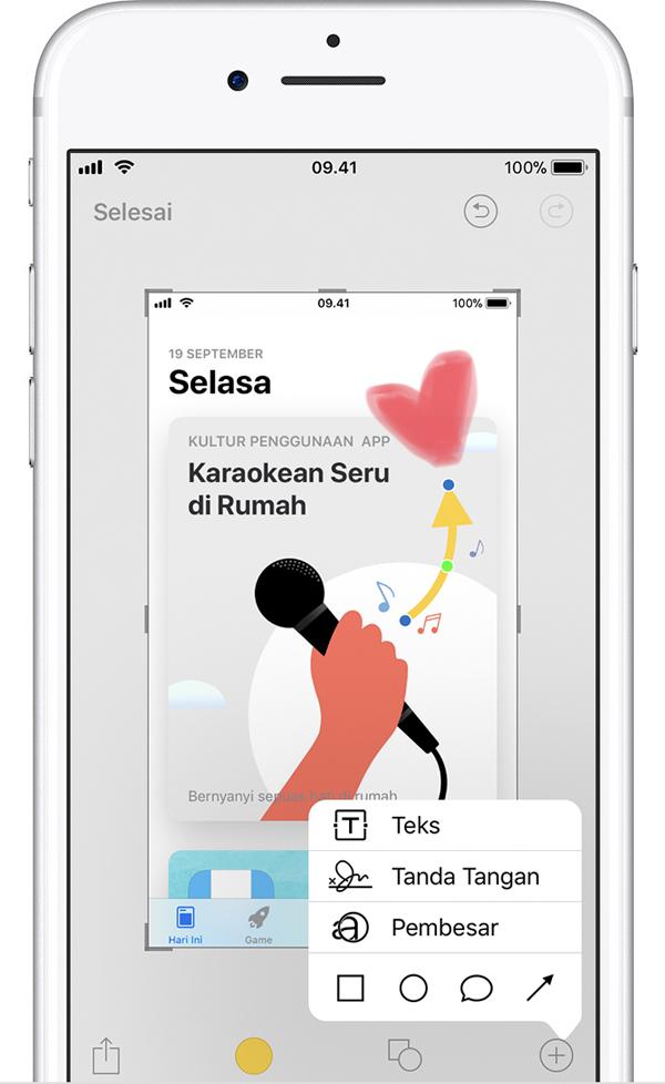 Fitur Screenshot iPhone