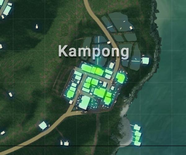 Tempat Loot Terbaik Sanhok - Kampong