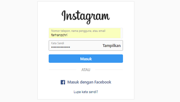 Login Instagram