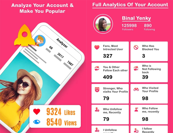 Analyzer for Instagram