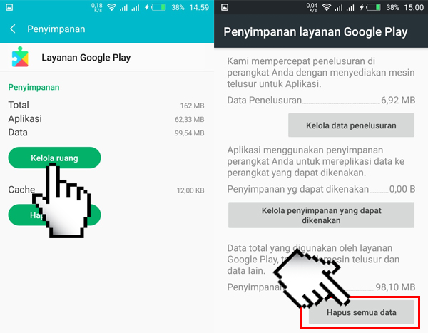 Hapus Data Layanan Google