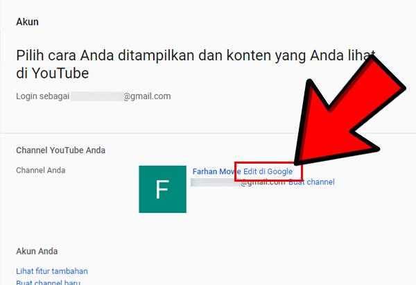 Pilih Edit di Google
