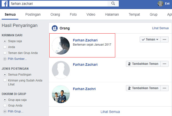 cara-mengetahui/melihat-email-fb-orang-lain