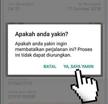 Cara Membatalkan Tiket Kereta Secara Online