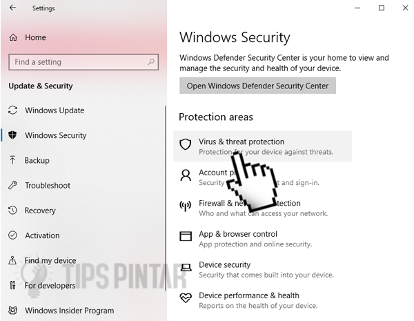 cara mematikan antivirus windows 10