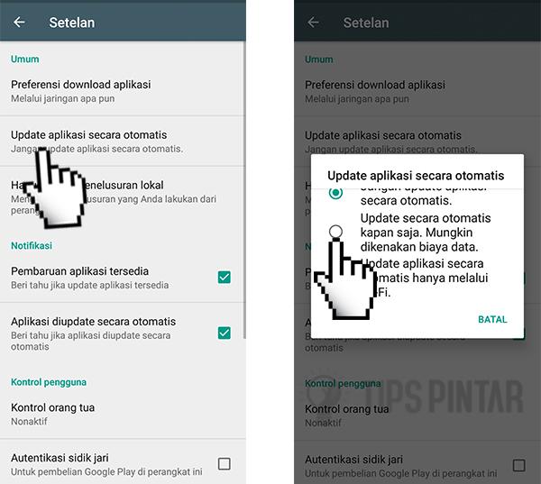Cara Memperbarui Google Google Play Store Melalui Setting
