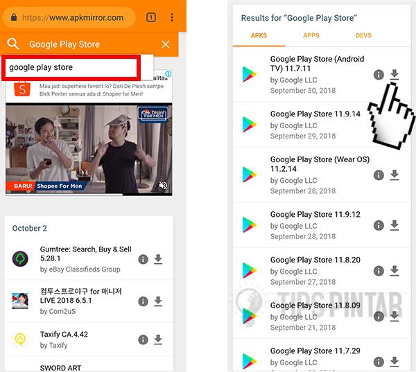 Cara Update Play Store Melalui APKMirror
