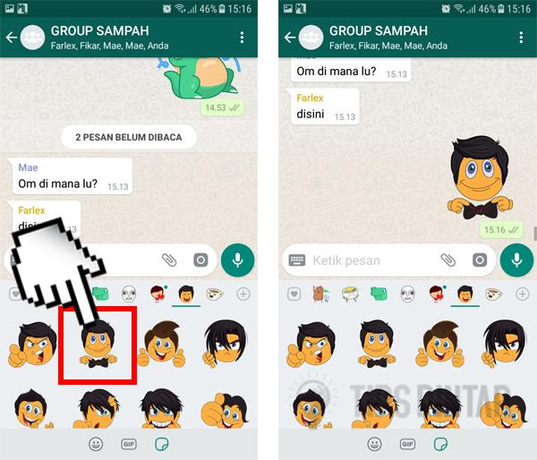 Cara Mengirim dan Menambahkan Stiker Keren di WhatsApp