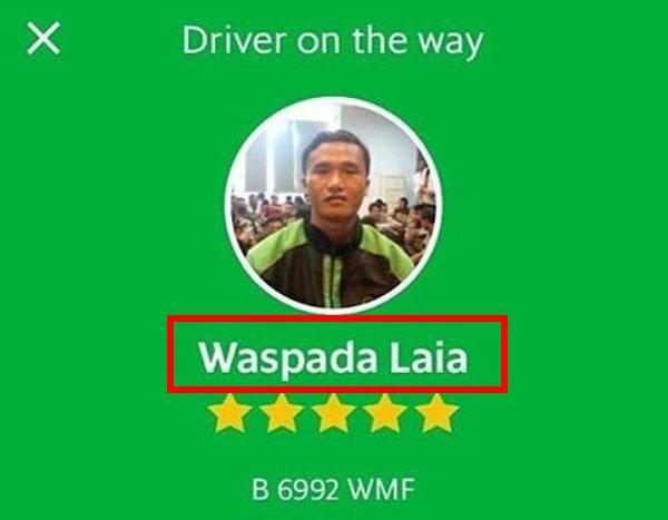 Nama Driver Ojek Online Teraneh