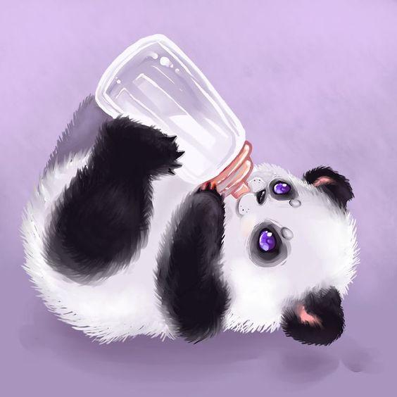 Baby Panda Sucked